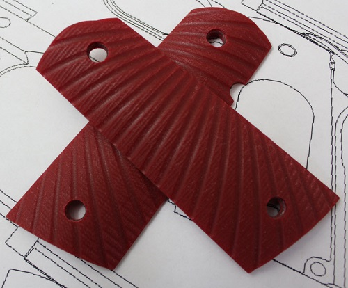 769001 Genuine Larry Davidson Starburst Ruby Red G-10 Grips